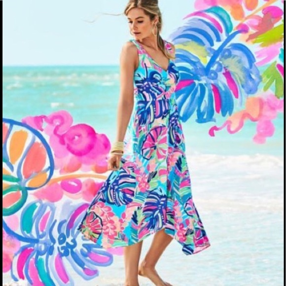 Lilly Pulitzer Dresses & Skirts - Lilly Pulitzer Sloane Dress, Exotic Garden, NWT